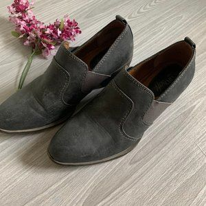 Sofft Gray Suede Ankle Booties 7.5